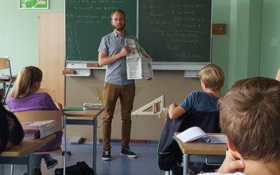 """""""PZ im Unterricht"""" – Redakteur Simon Walter zu Gast in der Klasse 7b"""