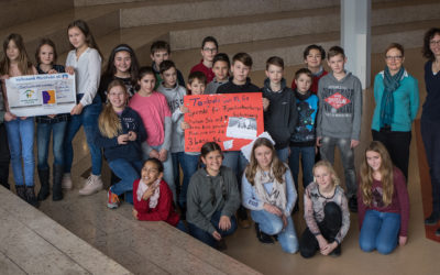 Schiller-Blog: Große Spende der 6a an die Familienherberge Lebensweg