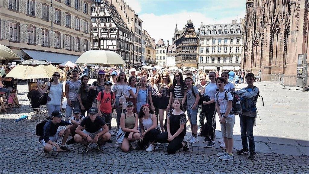 Mit der 7. Klasse Französisch auf Straßburg-Exkursion