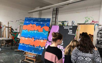 Ausflug der Labelling / Design AG bei Frau Schissler-Schein am 24.01.2019