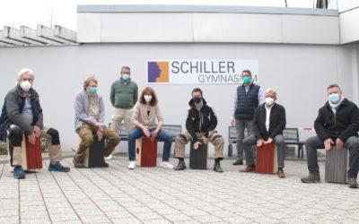 Cajons für das Schiller-Gymnasium
