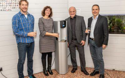 Übergabe unseres Wasserspenders durch die Stadtwerke Pforzheim