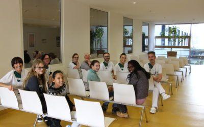 Mit der Sozial-AG in der Helios-Klinik