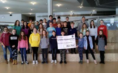 Das Schiller-Gymnasium sammelte Spenden für das SOS-Kinderdorf Stuttgart Göppingen