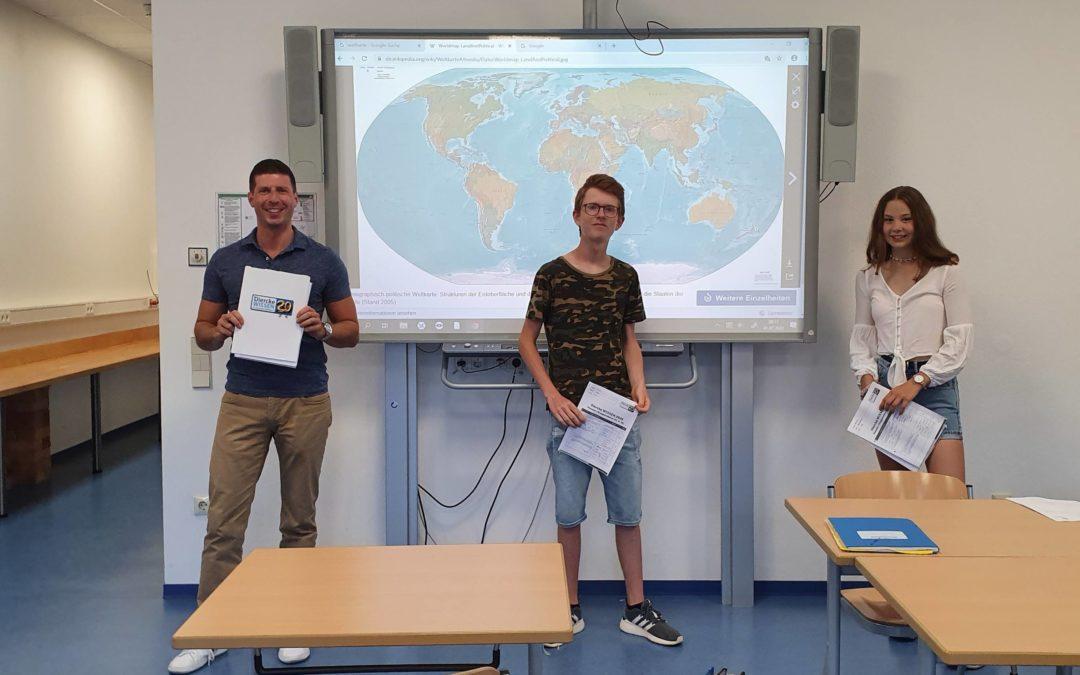 Malina Gottmann siegt beim schulinternen Geographie-Wettbewerb